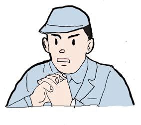 1x1.trans ①働く 面白い 作業者 男性
