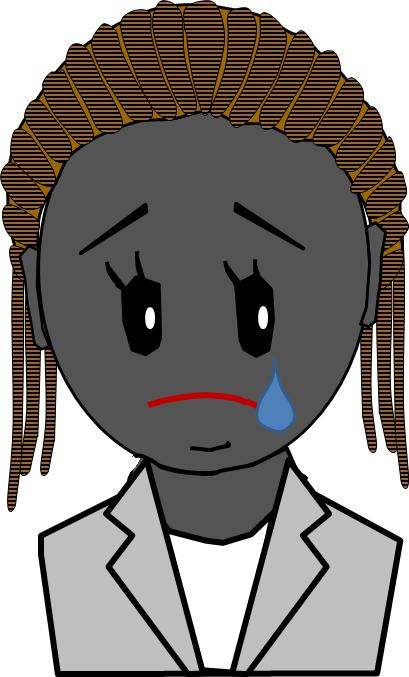 アフリカ人 キャリアーウーマン 涙