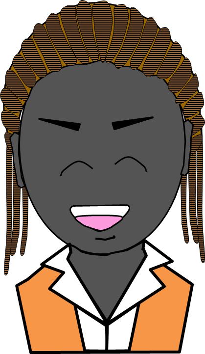 アフリカ人 キャリアーウーマン 微笑