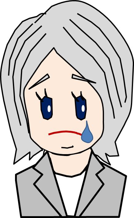銀髪 キャリアーウーマン 涙
