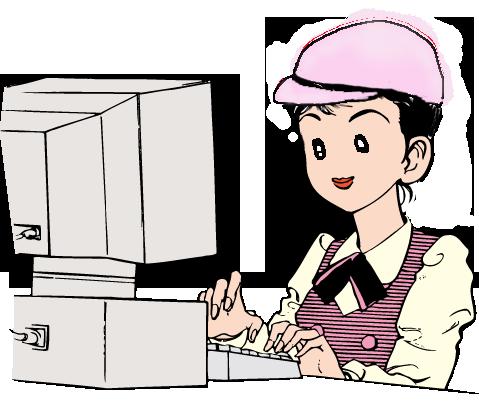 1x1.trans ②働く かわいい 作業者 女性