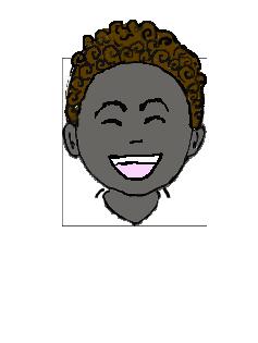 黒人 微笑