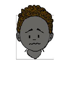 黒人 冴えない顔