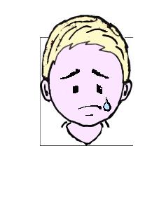 金髪 泣く