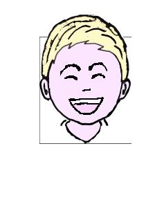 金髪 微笑
