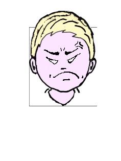 金髪 怒り