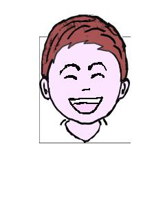 茶髪 微笑