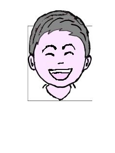 銀髪 微笑