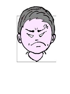 銀髪 怒り