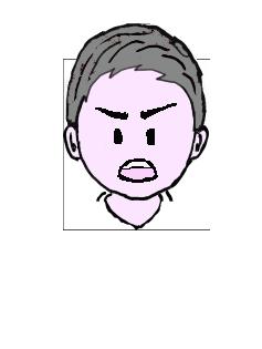 1x1.trans ③面白い作業者 男性 表情 髪の毛