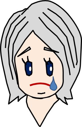 銀髪 泣く