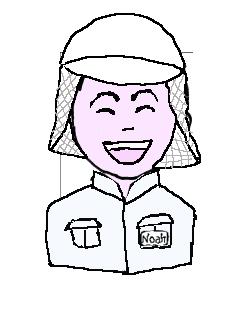 食品 医療用帽子 微笑