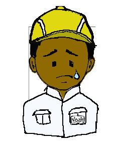 インド人 作業帽子 涙