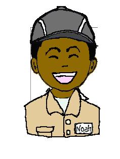 インド人 作業帽子  微笑