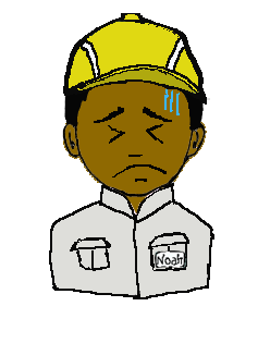 インド人 作業帽子 冷や汗