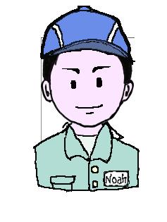 日本人 作業帽子