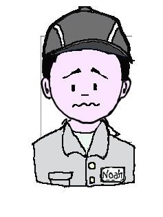 日本人 作業帽子 困惑
