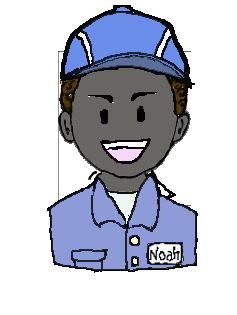 アフリカ人 作業帽子 笑い