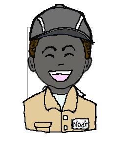 アフリカ人 作業帽子 微笑