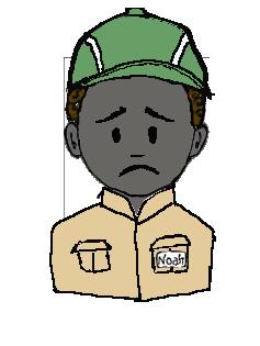 アフリカ人 作業帽子 不平