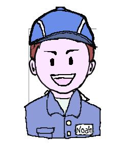 茶髪 作業帽子 笑い