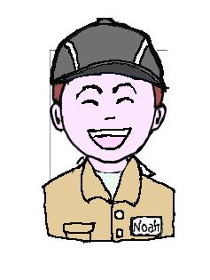 茶髪 作業帽子 微笑