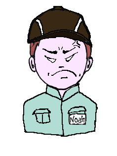茶髪 作業帽子 怒り