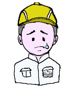 銀髪 作業帽子 涙