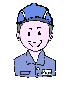 銀髪 作業帽子 笑い