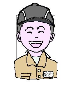 銀髪 作業帽子 微笑
