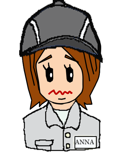 1x1.trans ⑭かわいい 作業者 女性 帽子