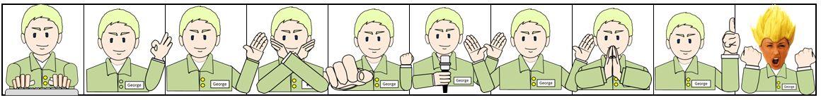 1x1.trans ⑤ 面白い 男性 身振り、ジェスチャー